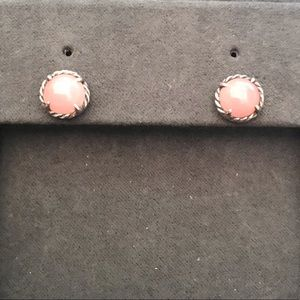 David Yurman Rose Quartz Chatelaine Stud Earrings